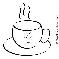 coffee or tea mug outline
