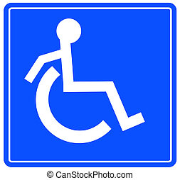 handicap or wheelchair accessible sign