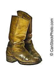 Cowboy style boots - Old worn cowboy style boots from the...