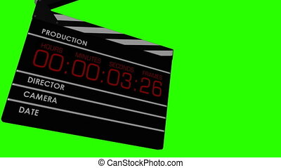 5 Shots of Clapperboard 1 on Chroma - 5 Shots of 3D CG...