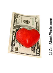 fifty dollar bill heart - fifty dollar bill on heart...