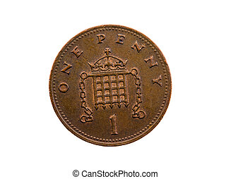 Penny English - Dark coin, in cost one English of a penny...