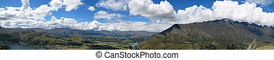 Panorama of Queenstown and the Remarkables, New Zealand
