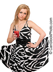 Attractive young woman with a cocktail