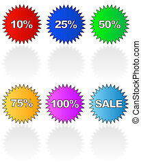 promotional sale stickers with various retail uses