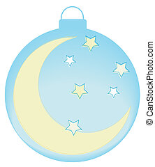 ornament with moon and stars