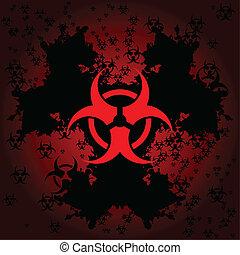 Biohazard background - Biohazard symbol on a background of...