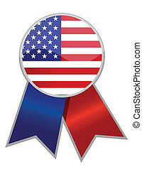 US Ribbon isolated over white