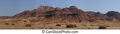 Panorma Shot of the landscape in Damaraland, Namibia