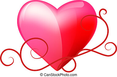 heart vector - heart on a white background vector