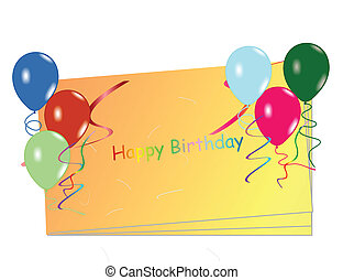 Beautiful celebration card with balloons