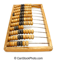 old wooden abacus close up