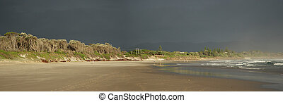 Beach of Byron Bay, Australia - Panorama of the beach of...
