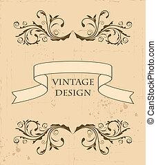 Illustration the retro vintage element for design