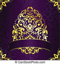 Elegant square banner in purple