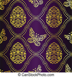 Easter background in purple