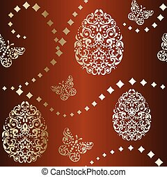 Easter background in brown