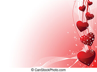 Valentine day background - Beautiful red Valentine's day...