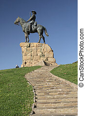 The Rider, a monument in Windhoek in remembrance of the wars...
