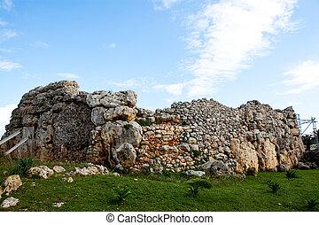 Ggantija, świątynia, szczątki, Gozo