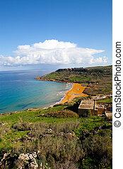 Ramla, zatoka, Gozo, wyspa