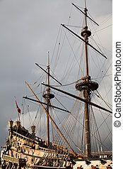 Detail of Neptune Galleon, used by R Polansky for the movie...