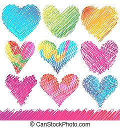 Design set: Hearts - Design set: Colorful Valentines Day...