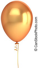 Luxury party golden balloon - Golden balloon. Beautiful...