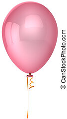 Pink party balloon - Pink balloon. Romantic love emotions....