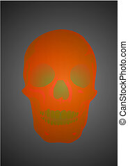 Vector illustration a human skull by a holiday helloween -...