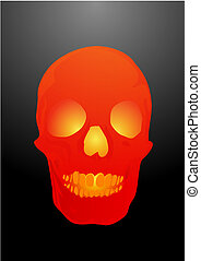 Vector illustration a human skull by a holiday helloween