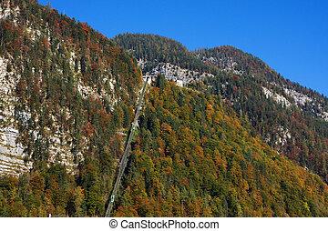 Cable car in Hallstatt