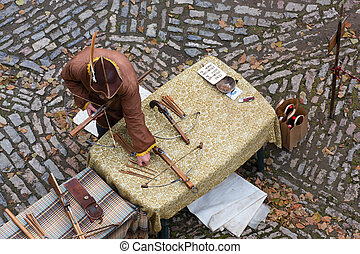 Crossbow archer - Historic Crossbow archer shooting on...