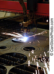 Plasma cutting - Digital portal type thick metal sheet...