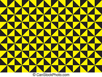 seamless black and yellow triangles alternating fan tipe