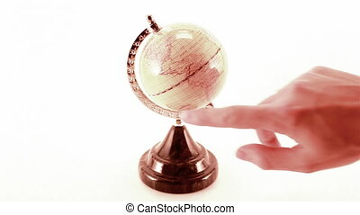rotating globe isolated