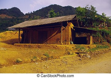 Hmong ethnic house - A typical house of the Hmong...
