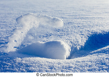 Snowscape - Snow and ice forming a beautiful snowscape.