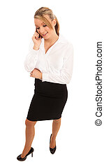 Business Woman talking on a mobile telephone
