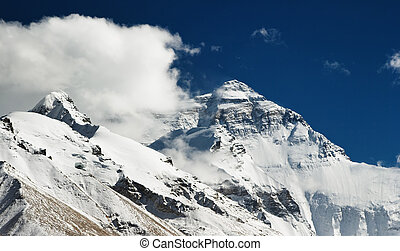 Mount Everest North face view from Tibet