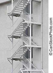 セキュリティー, 階段, 外部である