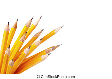 Pencils - Bunch of pencils isolated on white