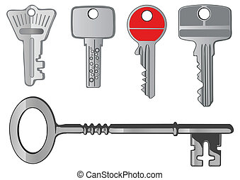 Vector set  a metal key from the lock