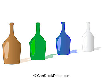 Vector illustration a bottles