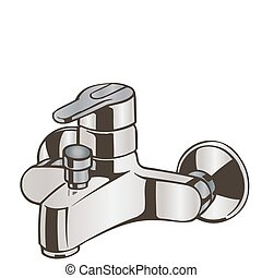 Vector illustration of the faucet