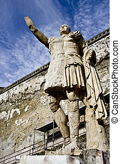 Statue of Nonius Balbus at the Herculaneum archeological...