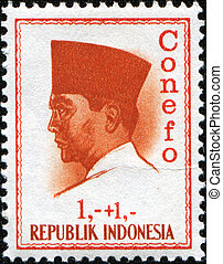 INDONESIA - CIRCA 1965: A stamp printed in Indonesia shows...