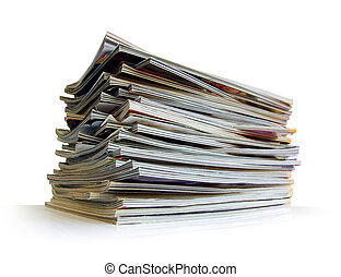 Pile of Magazines - Closeup of a messy pile of old magazines...