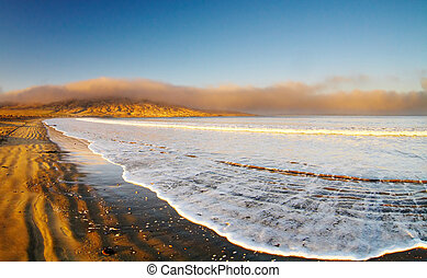 Empty beach - Atlantic coast, Luderitz, Namibia, Agate Beach