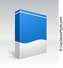 Blank dvd box on background Vector illustration